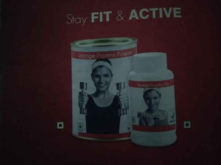 🏃 આરોગ્ય ટિપ્સ - Stay FIT & ACTIVE Vestige Protein Powder Vestioe Hoodia Plus - ShareChat