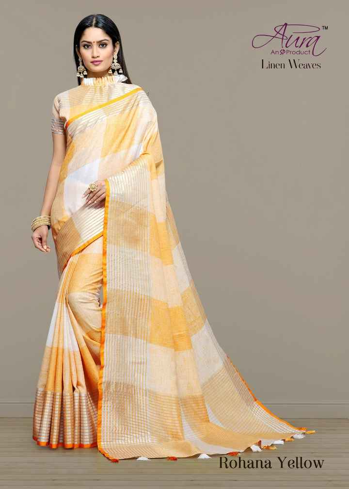 👲 ઉનાળાની ફેશન - An SP Product Linen Weaves Rohana Yellow - ShareChat
