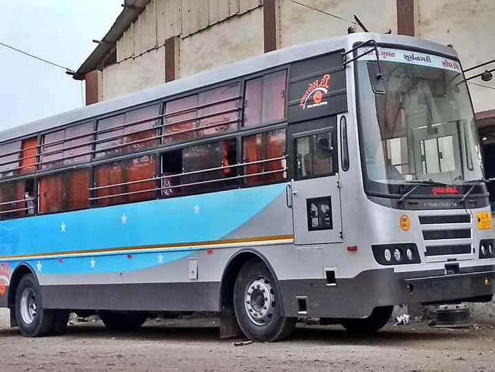 🚍 એસટીમાં 'અસલામત' ભરતી? - ગુજરાત સૂર્યનગરી ) મોર E With Clicks - ShareChat