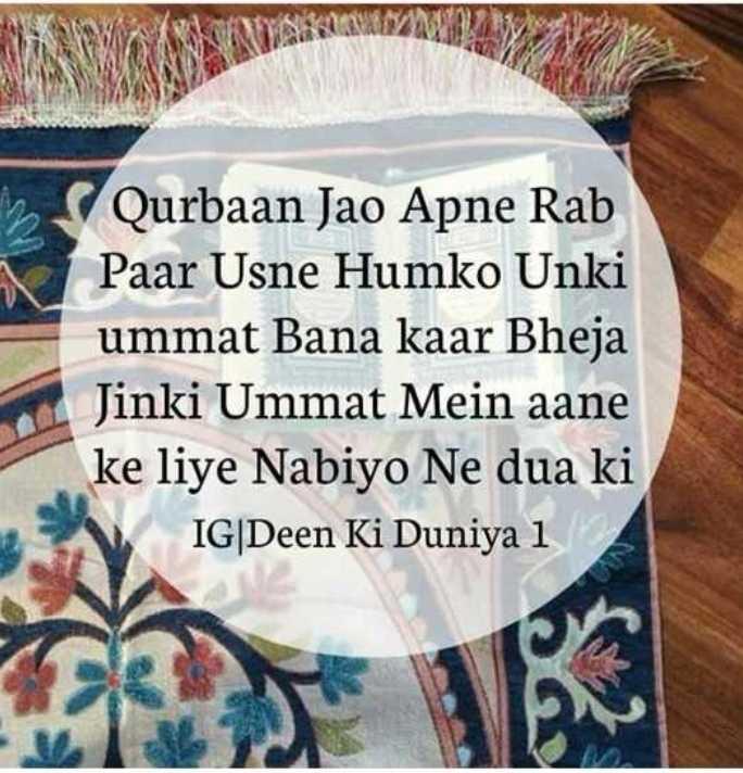 📕 કુરાન - in Qurbaan Jao Apne Rab Paar Usne Humko Unki ummat Bana kaar Bheja Jinki Ummat Mein aane ke liye Nabiyo Ne dua ki IG | Deen Ki Duniya 12 - ShareChat