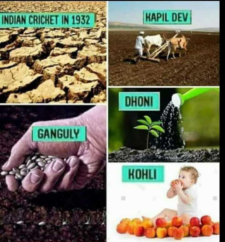 🏏 ક્રિકેટ દિવસ - INDIAN CRICKET IN 1932 KAPIL DEV DHONI GANGULY KOHLI - ShareChat
