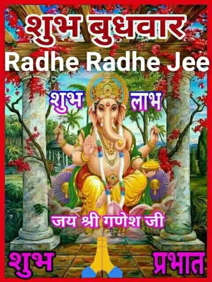 🙏 ગણેશ ચતુર્થી - Radhe Radhe Jee शुभ लाभ जय श्री गणेश जी शुभ प्रभात - ShareChat