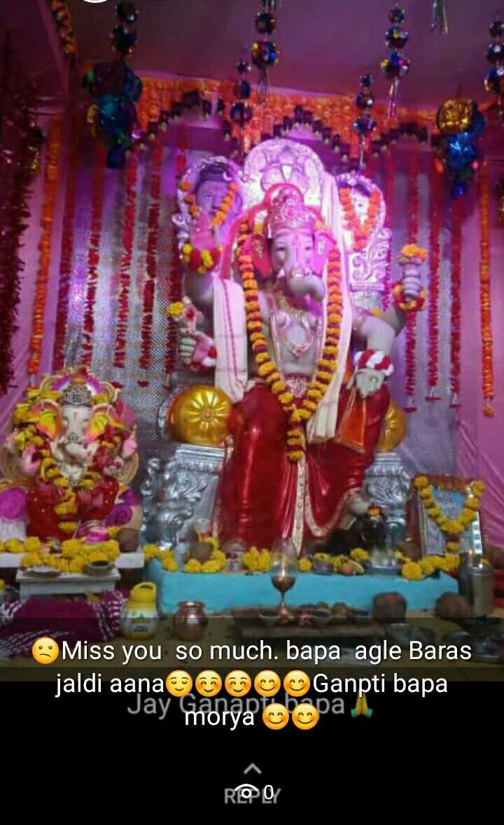 🌺 ગણેશ સ્થાપના - ACCESO Miss you so much . bapa agle Baras jaldi aanae009 Ganpti bapa Jay Shortcopa I ROO - ShareChat