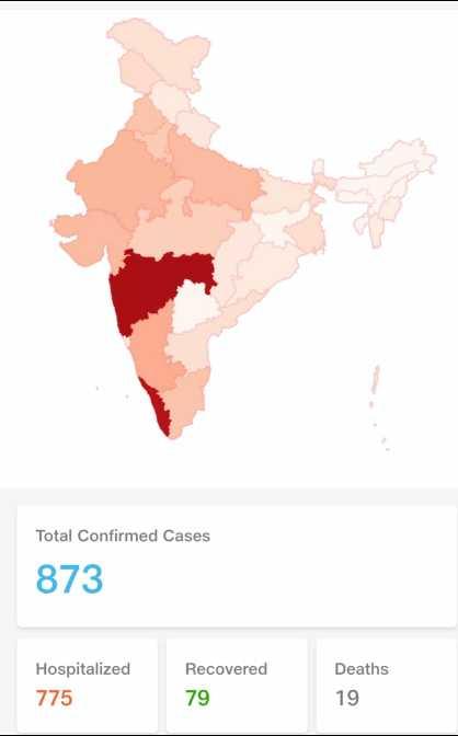 🔒 ગુજરાત લોકડાઉન - Total Confirmed Cases 873 Hospitalized 775 Recovered 79 Deaths 19 - ShareChat