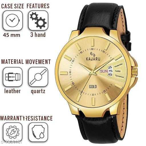 ⌚ ઘડિયાળ ડિઝાઇન - CASE SIZE FEATURES 45 mm 3 hand 111601 KAJÁRU MATERIAL MOVEMENT SII GOLD leather quartz 1 30 1 WARRANTYRESISTANCE sce161 - ShareChat