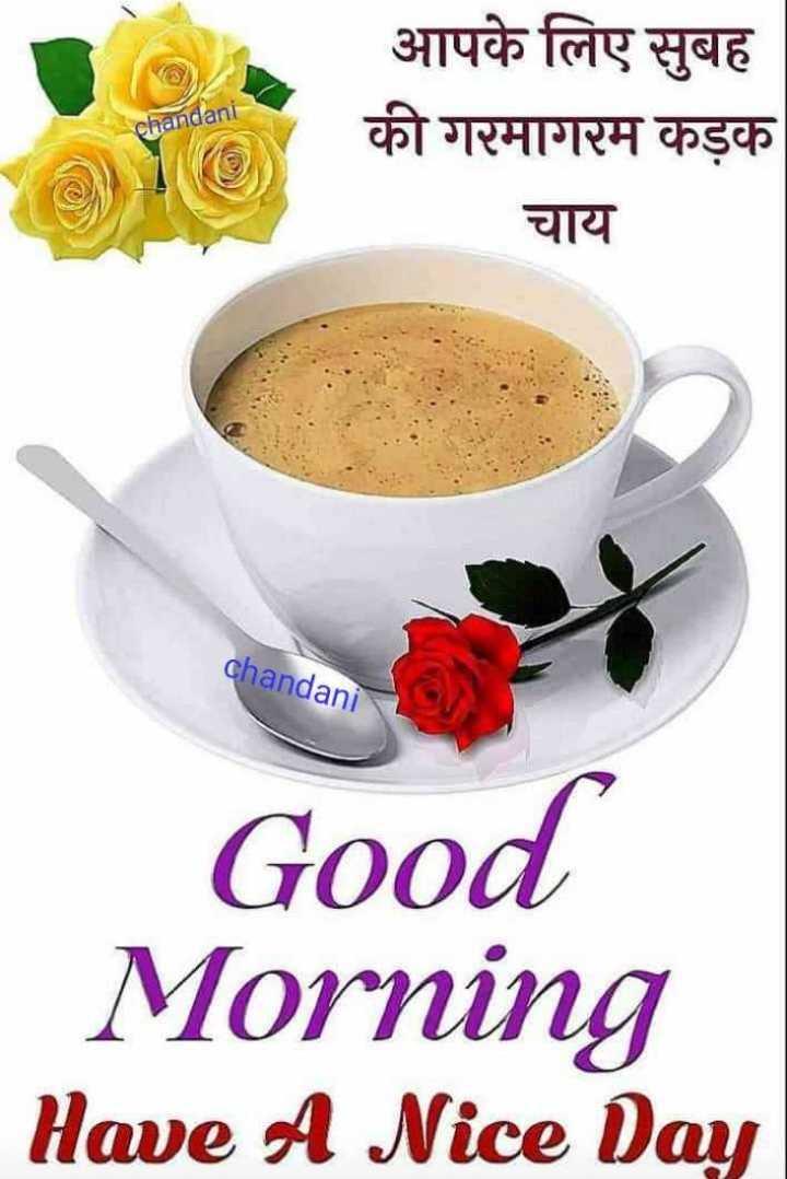 ☕ ચા - કોફી - chandani आपके लिए सुबह की गरमागरम कड़क चाय chandani Good Morning Have A Nice Day - ShareChat