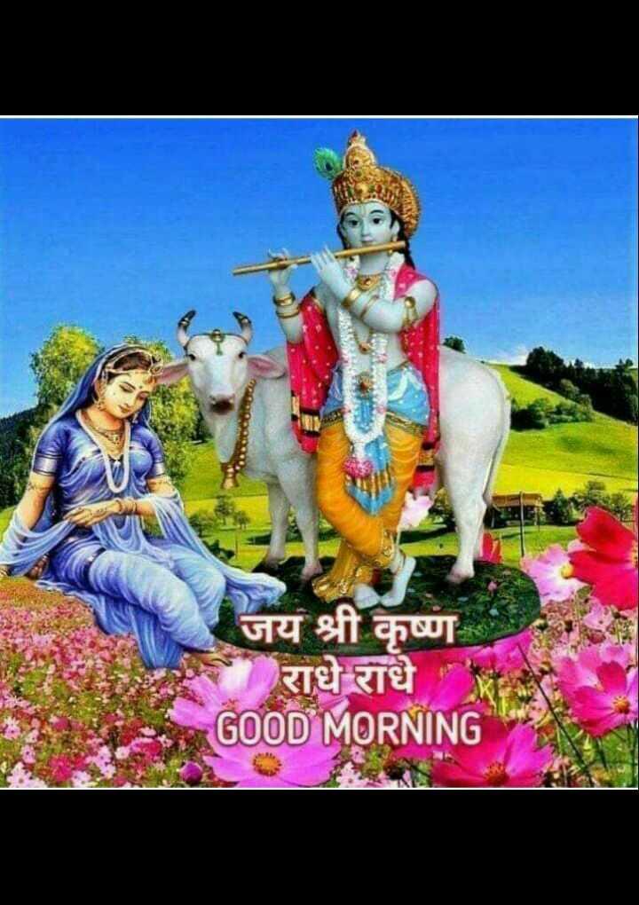 🙏 જય શ્રી કૃષ્ણ - जय श्री कृष्ण राधे राधे GOOD MORNING - ShareChat