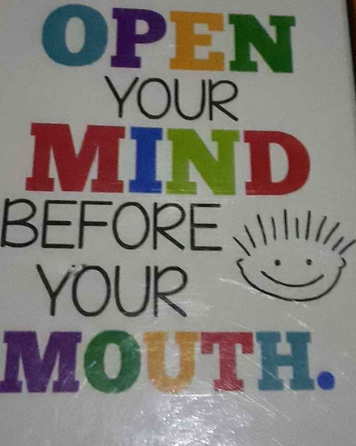 જાણવા જેવું 🌿 - OPEN YOUR MIND BEFORE ! ! YOUR ☺ MOUTH - ShareChat
