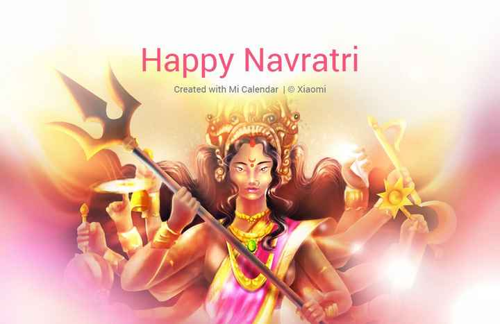 🎆 તહેવારો 🎉 - Happy Navratri Created with Mi Calendar © Xiaomi - ShareChat