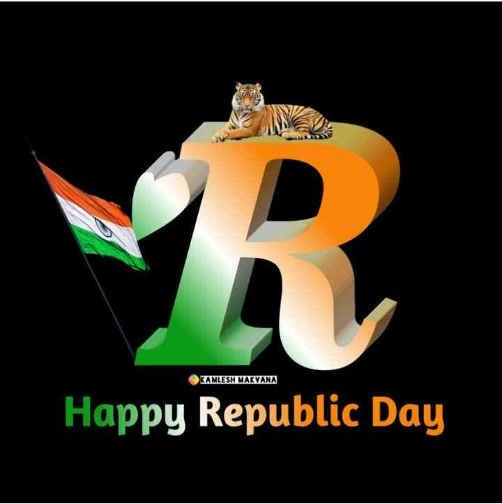 🔠 ત્રિરંગાની અક્ષરકળા - KAMLESH MAKVANA Happy Republic Day - ShareChat