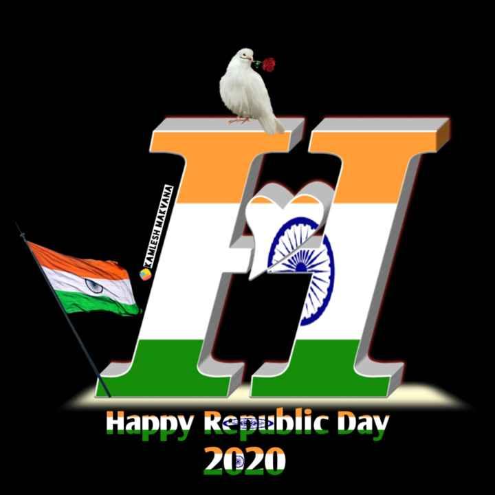 🔠 ત્રિરંગાની અક્ષરકળા - OKAMLESH MAKVANA Happy Republic Day 2020 - ShareChat
