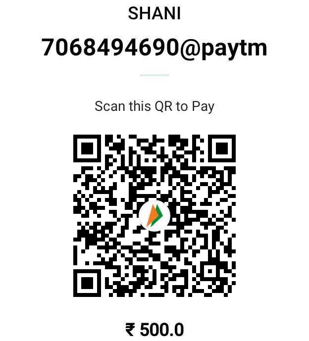 💐 પુલવામાં હુમલાને 2 મહિના - SHANI 7068494690 @ paytm Scan this QR to Pay 500 . 0 - ShareChat