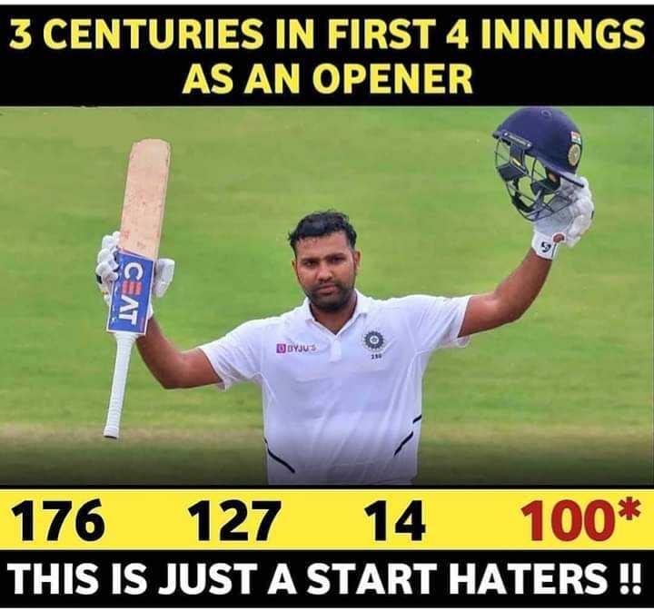 🇮🇳 ભારત vs સાઉથ આફ્રિકા 🇿🇦 - 3 CENTURIES IN FIRST 4 INNINGS AS AN OPENER C _ AT DDYJUS 176 127 14 100 * THIS IS JUST A START HATERS ! ! - ShareChat