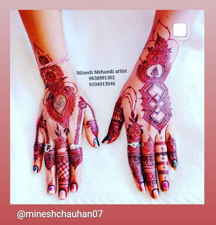 🤲 મહેંદી ડીઝાઇન - Minesh Mehandi artist 9638991302 9104913046 end 0 , 29 her @ mineshchauhan07 - ShareChat