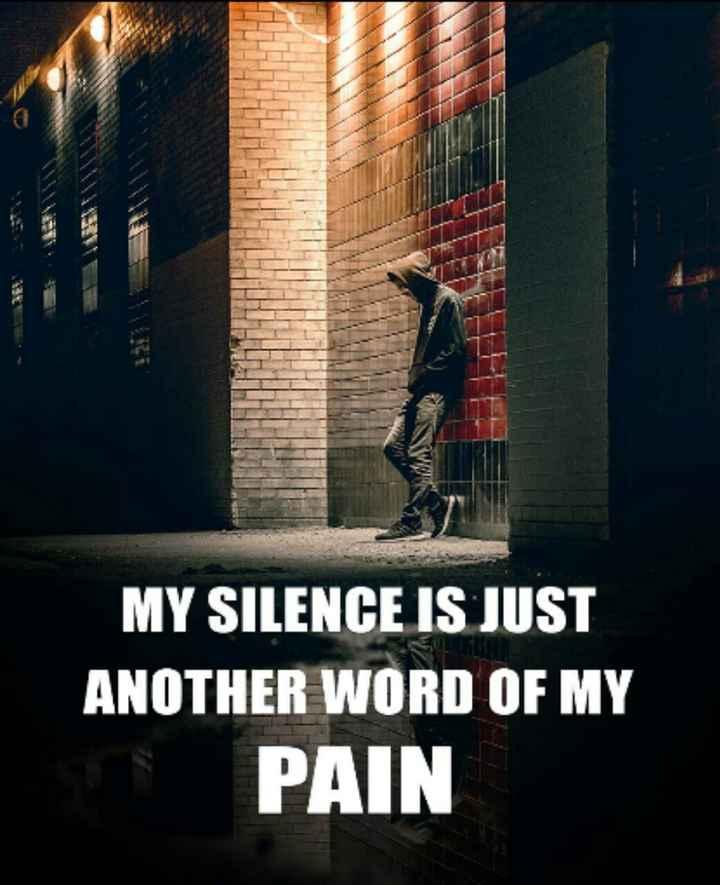 મારા વિશે - MY SILENCE IS JUST ANOTHER WORD OF MY PAIN - ShareChat