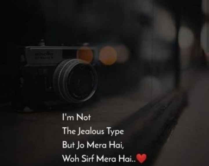 મારા વિષે 🙇 - I ' m Not The Jealous Type But Jo Mera Hai , Woh Sirf Mera Hai . . - ShareChat