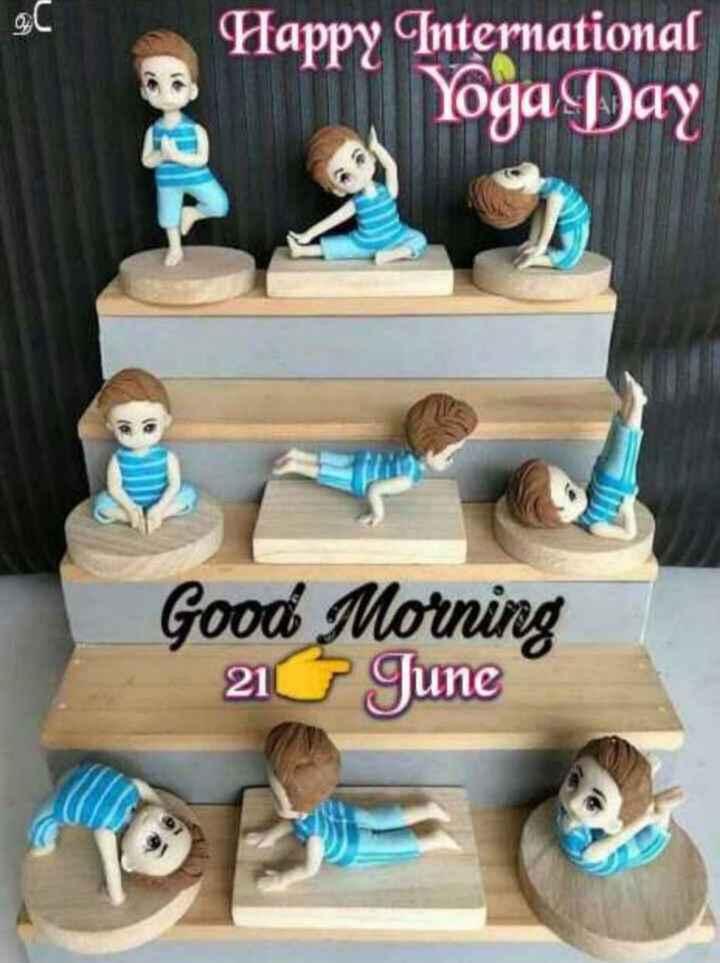 યોગ - 90 Happy International Yoga Day Good Morning 210 June - ShareChat