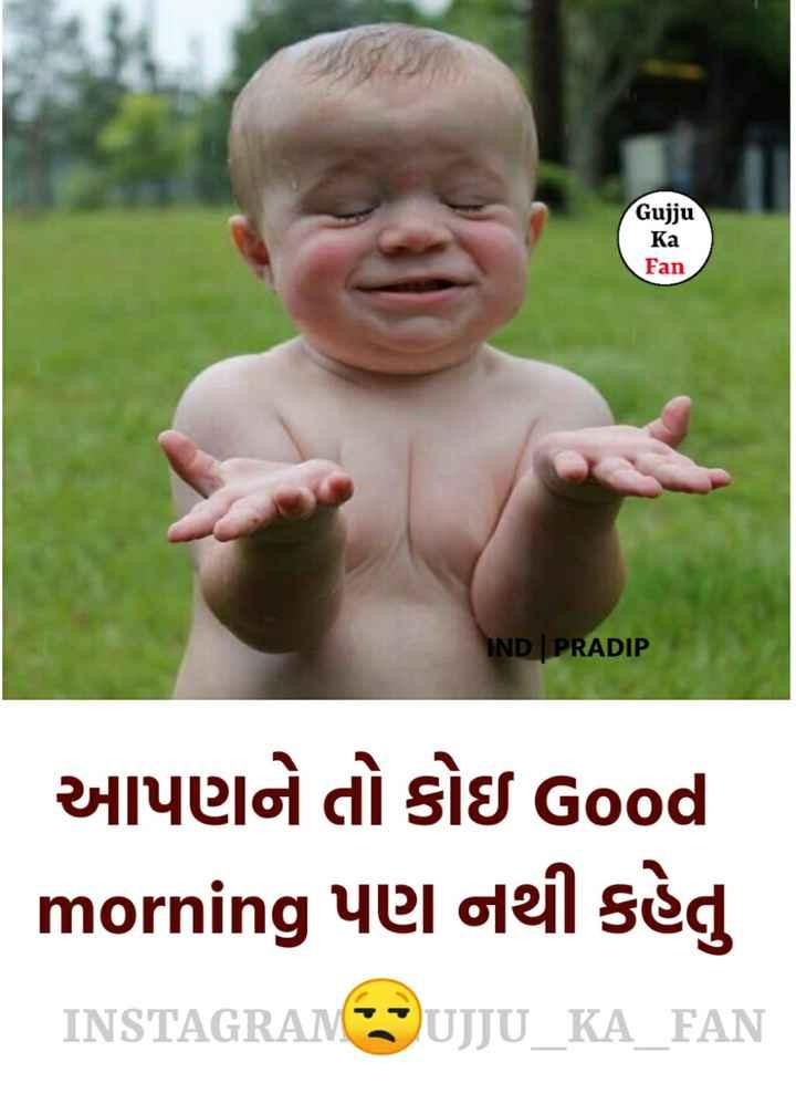 🤣 રમુજી ફોટો - Gujju Ka Fan IND | PRADIP આપણને તો કોઇ Good morning yel oleil sèg INSTAGRAN UJJU _ KA _ FAN - ShareChat