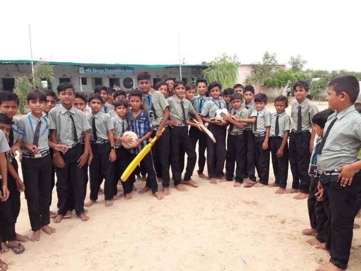 🏆 રાષ્ટ્રીય રમતગમત દિવસ - રા | | શ્રી કિના વિદ્યામંદિર , વાવ - ShareChat