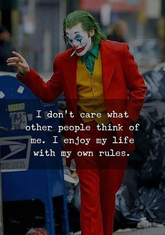😍 રોમેન્ટિક શાયરી 🌹 - I don ' t care what other people think of me . I enjoy my life with my own rules . - ShareChat