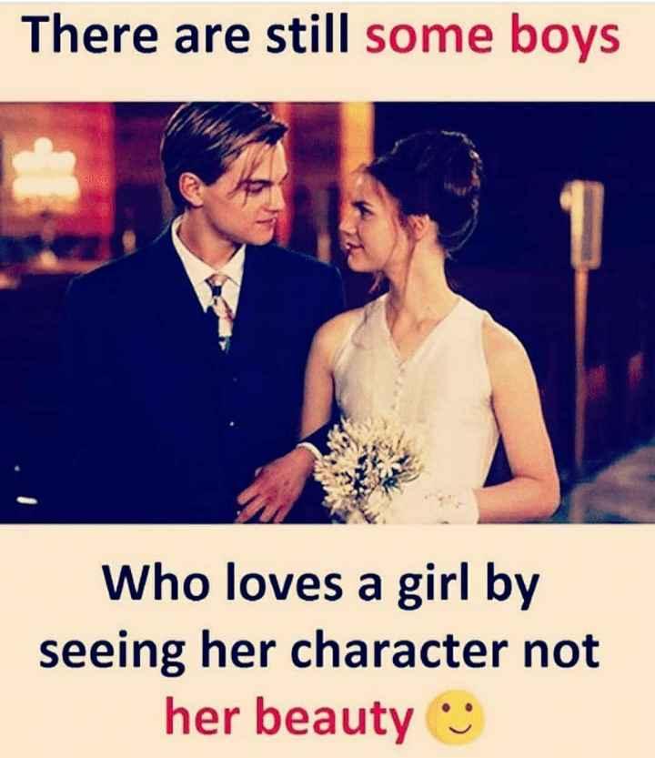 💝 લવ કોટ્સ - There are still some boys Who loves a girl by seeing her character not her beauty - ShareChat