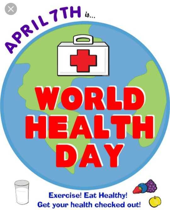 💉 વિશ્વ આરોગ્ય દિવસ - APRIL 7TH WORLD HEALTH DAY Exercise ! Eat Healthy ! Get your health checked out ! - ShareChat
