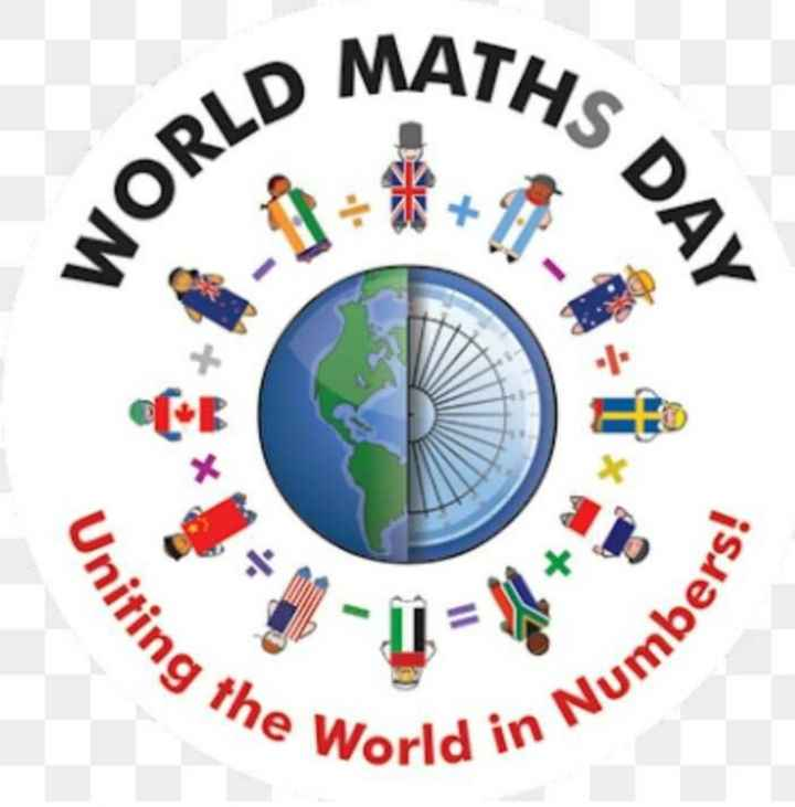 📐 વિશ્વ ગણિત દિવસ - MATHS D WORLD Uniting The World in in Numbe - ShareChat