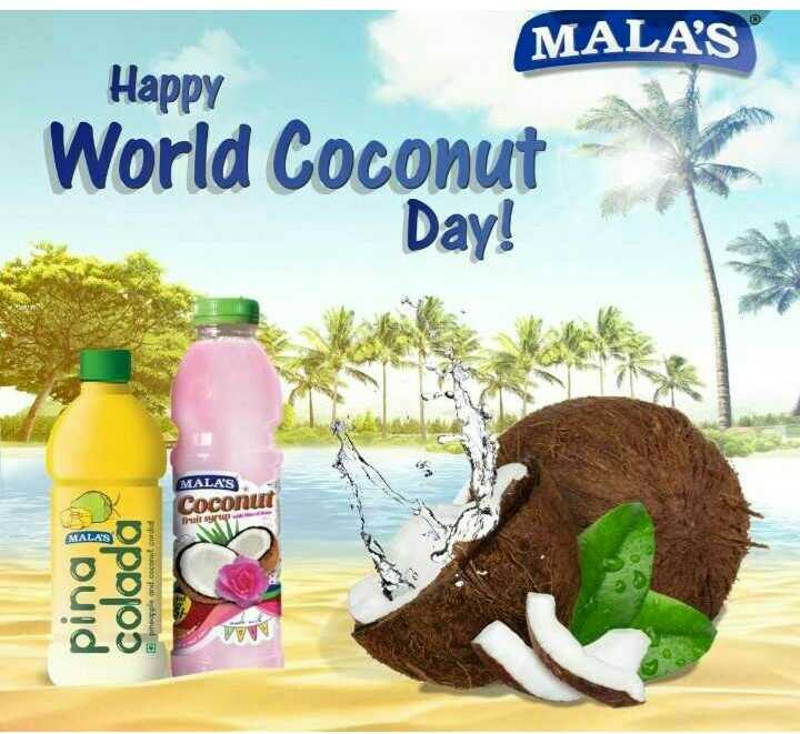 🥥 વિશ્વ નાળિયેર દિવસ - MALA ' S Happy World Coconut Day ! MALA ' S Coconut Tintip Cloud colada peleand com cordia AMA - ShareChat