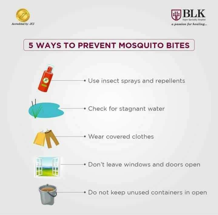 😨 વિશ્વ મચ્છર દિવસ - OBLK Accredited by : JCI Superfectly a passion for healing . . . 5 WAYS TO PREVENT MOSQUITO BITES • Use insect sprays and repellents • Check for stagnant water • Wear covered clothes • Don ' t leave windows and doors open • Do not keep unused containers in open - ShareChat
