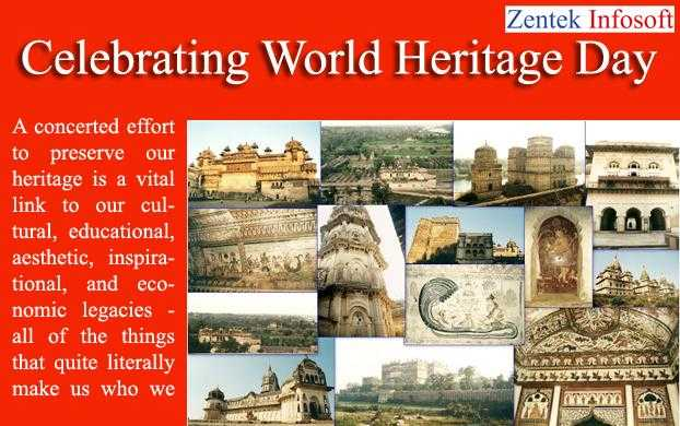 🏫 વિશ્વ વારસો દિવસ - Zentek Infosoft Celebrating World Heritage Day WE A concerted effort to preserve our heritage is a vital link to our cul tural , educational , aesthetic , inspira tional , and eco nomic legacies - all of the things that quite literally make us who we W ELL - ShareChat