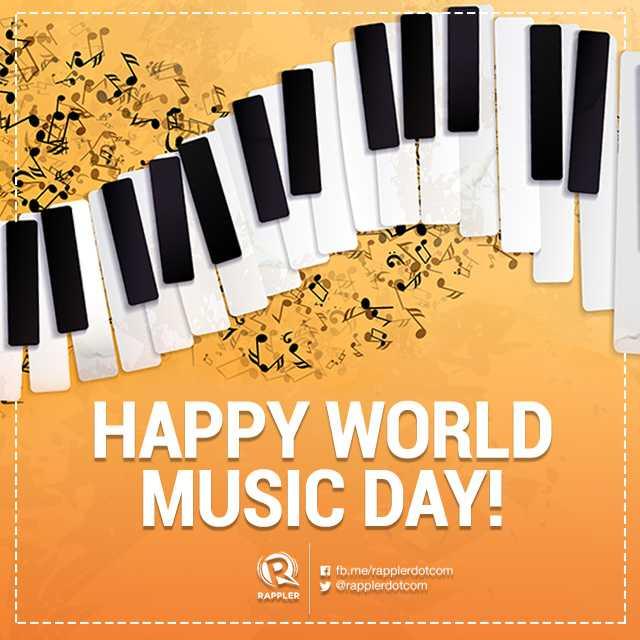 🎶 વિશ્વ સંગીત દિવસ - HAPPY WORLD MUSIC DAY ! f fb . me / rapplerdotcom y @ rapplerdotcom RAPPLER - ShareChat