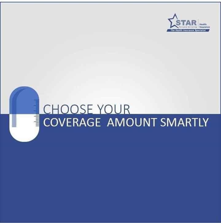 🔰 વીમા જાગૃકતા દિવસ - LSTAR era Health & Carine Insurance r ance Specialist The Hea CHOOSE YOUR COVERAGE AMOUNT SMARTLY - ShareChat
