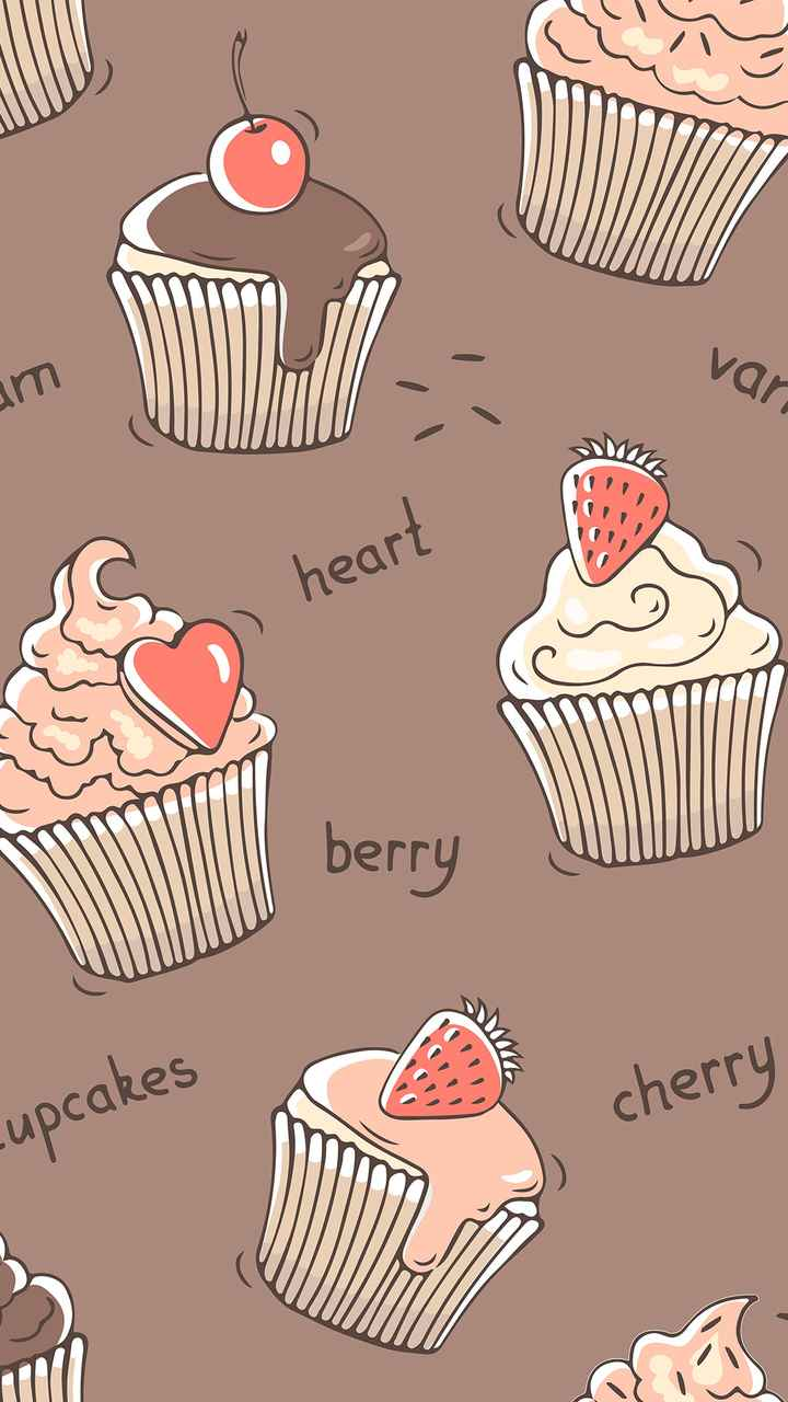 📲 વોલપેપર - O heart berry cherry cupcakes - ShareChat