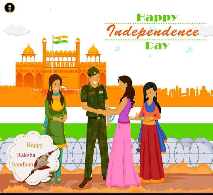 😊 શુભકામનાઓ - Happy Independence Day MALL A Happy Raksha bandhan - ShareChat
