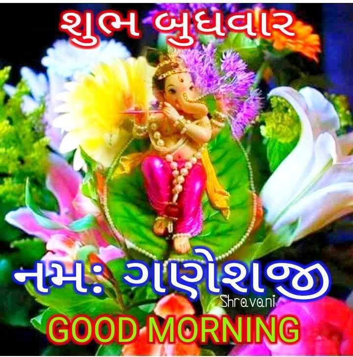 💐 શુભ બુધવાર - શુભ બુધવાર નમ : ગણેશજી GOOD MORNING Shravani - ShareChat