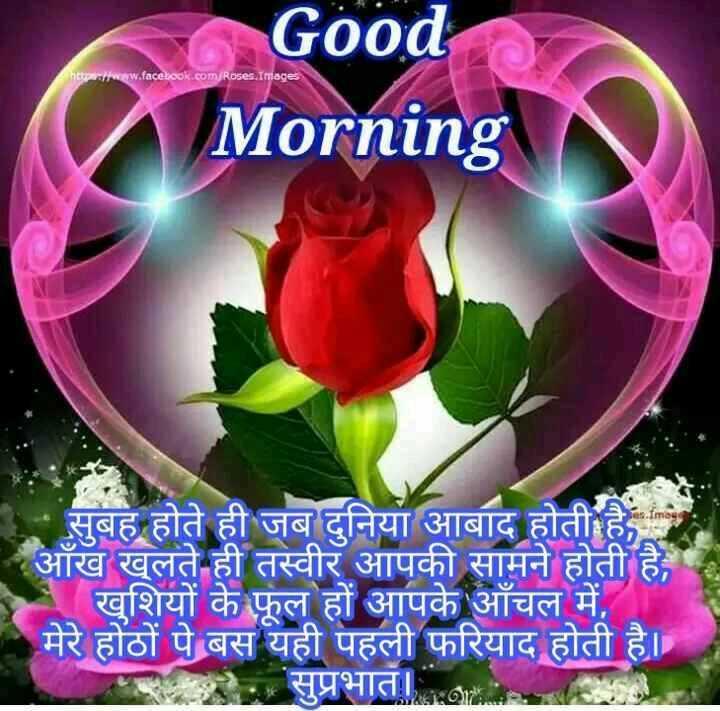 💐 શુભ બુધવાર - httpswww . face : ook . com / Roses . Image Good Morning सुबह होते ही जब दुनिया आबाद होती है , आँख खुलते ही तस्वीर आपकी सामने होती है , खुशियों के फूल हों आपके आँचल में , मेरे होठों पे बस यही पहली फरियाद होती है । सुप्रभातhani - ShareChat