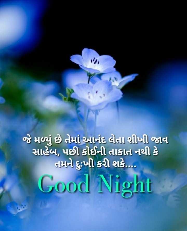 🌙 શુભરાત્રી - જે મળ્યું છે તેમાં આનંદ લેતા શીખી જાવ સાહેબ , પછી કોઈની તાકાત નથી કે નામને દુઃખી કરી શકે . Cood Night - ShareChat