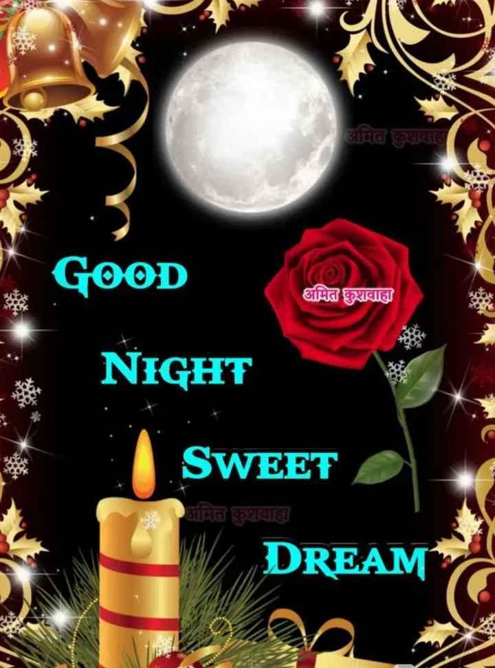 🌙 શુભરાત્રી - NA अमित कुशवाह GOOD IGO अमित कुशवाहा NIGHT SWEET अमित कुशवाहा DREAM - ShareChat