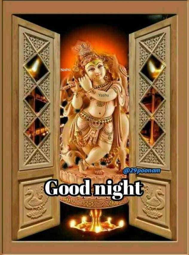 🌙 શુભરાત્રી - Nishu Yashu @ 29poonam - Good night - ShareChat