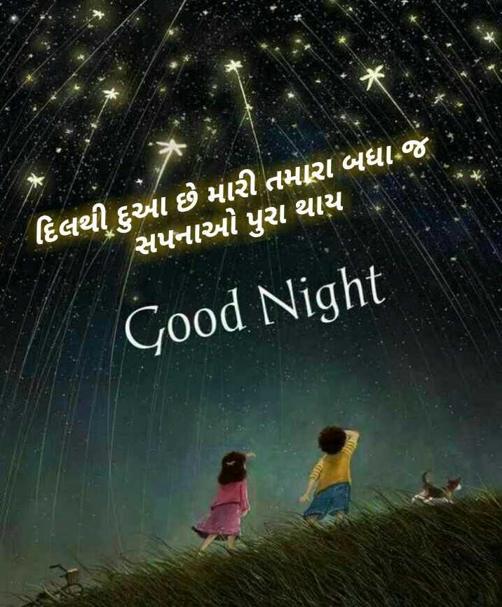 🌙 શુભરાત્રી - ' દિલથી આ છે મારી તમારા બધા જ સપનાઓ પુરા થાય Good Night - ShareChat