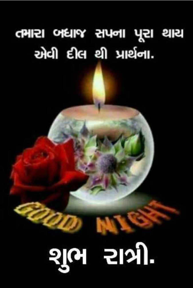 🌙 શુભરાત્રી - ' તમારા બધાજ સપના પૂરા થાય એવી દીલ થી પ્રાર્થના . શુભ રાત્રી . - ShareChat