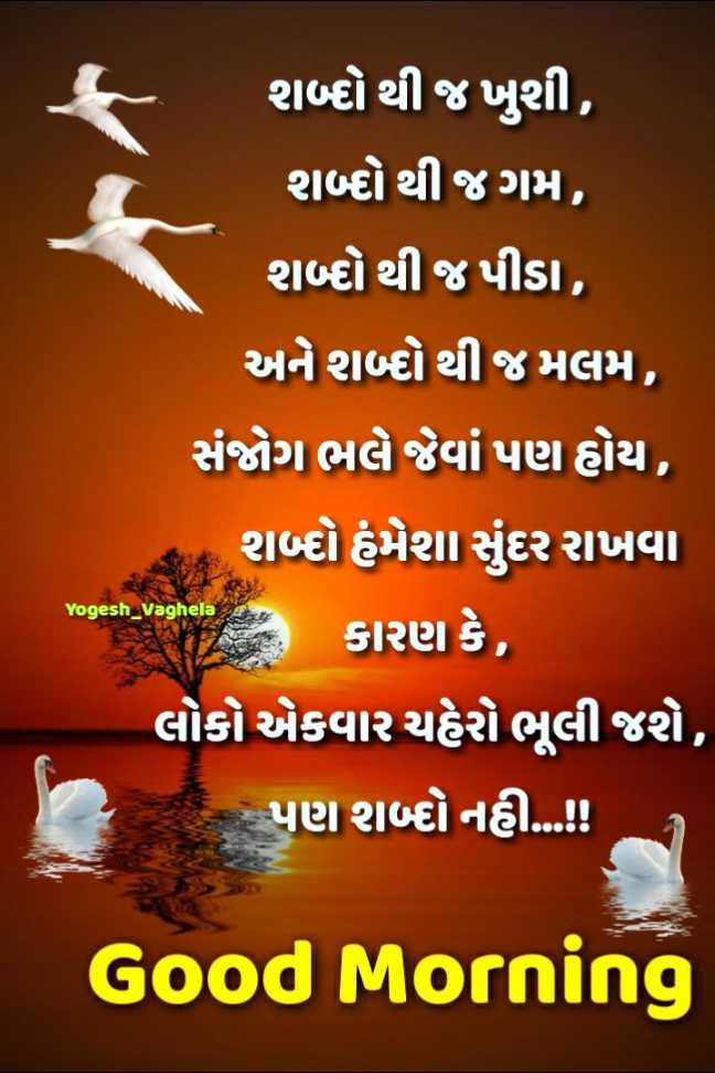 💐 શુભ સોમવાર - શબ્દો થી જ ખુશી , શબ્દ થી જગમ , શબ્દથી જ પીડા , અને શબ્બે થી અમલમ , સંજોગ ભલે જેવાં પણ હોય , ક શબ્દો હંમેશા સુંદર રાખવા જબના કારણ કે , ' લોકો એકવાર ચહેરો ભૂલી જશે , પણ શબ્દ નહી . . . ! ! Yogesh _ Vaghela Good Morning - ShareChat
