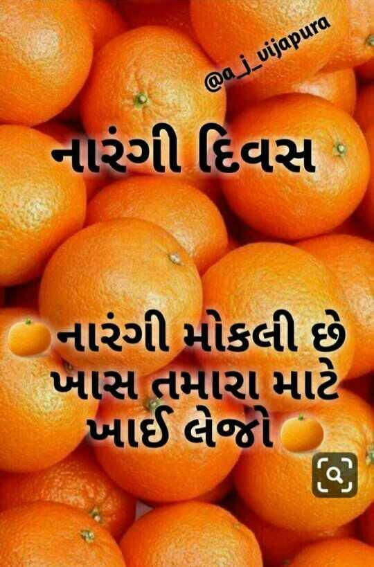 🍊 શેરચેટ નારંગી દિવસ - @ a _ j _ vijapura નારંગી દિવસ : નારંગી મોકલી છે ખાસ તમારા માટે ખાઈ લેજો - ShareChat