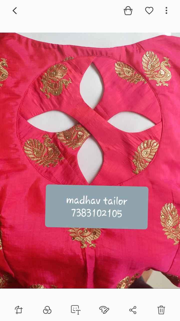 🧣 સાડી અને બ્લાઉઝ ડિઝાઈન - madhav tailor 7383102105 AN - ShareChat