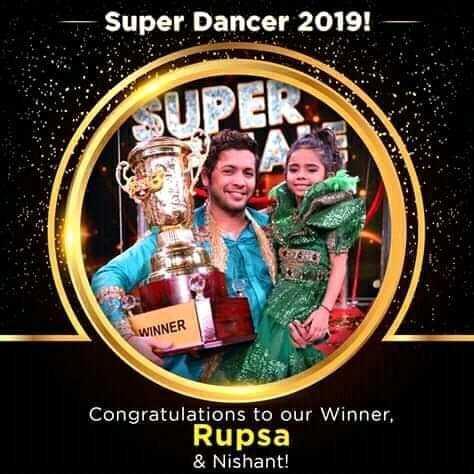 🕺 સુપર ડાન્સર : ફાઇનલ💃 - Super Dancer 2019 ! WINNER Congratulations to our Winner , Rupsa & Nishant ! - ShareChat