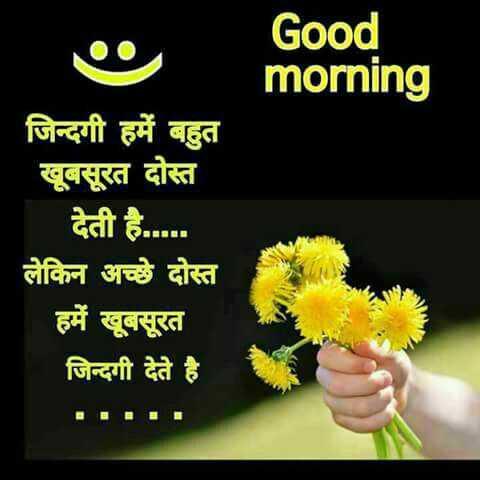 🌅 સુપ્રભાત 🙏 - Good morning जिन्दगी हमें बहुत खूबसूरत दोस्त देती है . . . . . लेकिन अच्छे दोस्त हमें खूबसूरत जिन्दगी देते है । - ShareChat