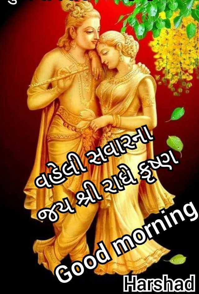 🌅 સુપ્રભાત 🙏 - વહેલી સવારના જ્ય શ્રી રાધીકૃષ્ણ Good morning Harshad - ShareChat