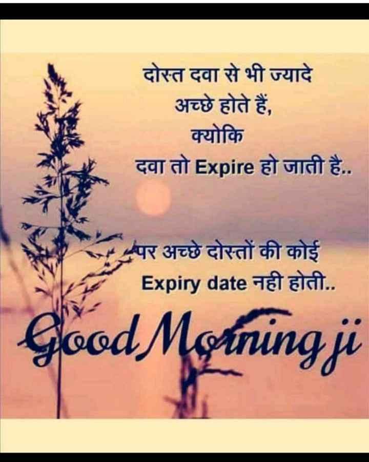 🌅 સુપ્રભાત - दोस्त दवा से भी ज्यादे अच्छे होते हैं , क्योकि दवा तो Expire हो जाती है . . पर अच्छे दोस्तों की कोई Expiry date नही होती . . Good Morning ji - ShareChat