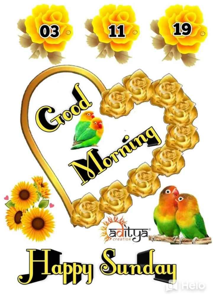 🌅 સુપ્રભાત 🙏 - 03 11 19 Good 1Xlorning reation Happy Sunday Hero - ShareChat