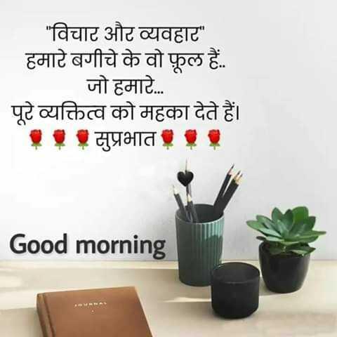😇 સુવિચાર 😇 - _ _ विचार और व्यवहार हमारे बगीचे के वो फूल हैं . जो हमारे . . . पूरे व्यक्तित्व को महका देते हैं । . . . सुप्रभात . . . Good morning - ShareChat
